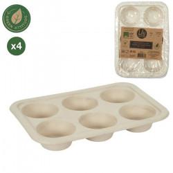 Moule cuisson canne à sucre muffins x 4 Cake Design KC2521