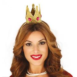 Mini couronne dorée femme Accessoires de fête 13038