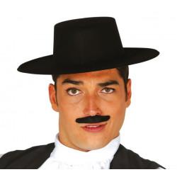 Chapeau andalou floqué noir adulte Accessoires de fête 13342