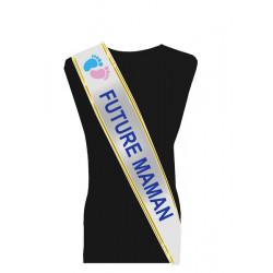 Écharpe FUTURE MAMAN luxe avec petits petons Accessoires de fête 99530-F MAMAN-