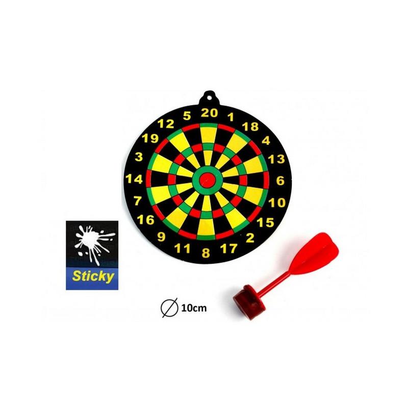 Mini cible en carton avec flèchette vendue par 48 Jouets et articles kermesse 14363-LOT