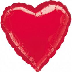 Ballon hélium coeur rouge métallisé 43 cm vrac Déco festive 10584 02