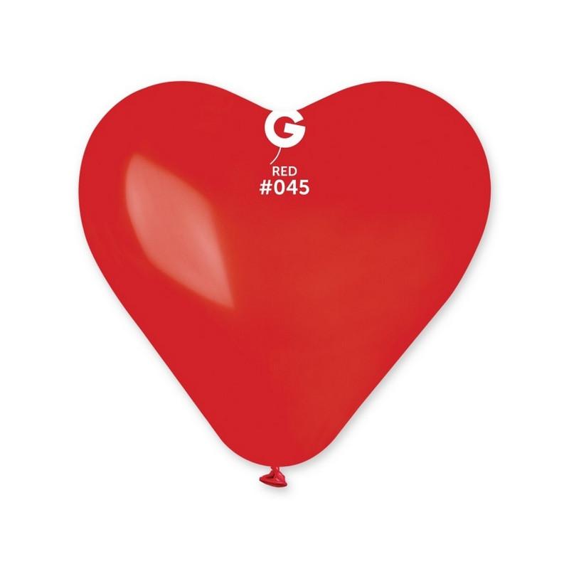 Sachet 3 ballons latex coeur rouge foncé 44 cm Déco festive 310702