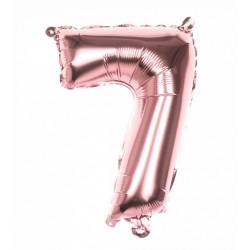 Ballon aluminium rose gold 36 cm chiffre 7 Déco festive 21997