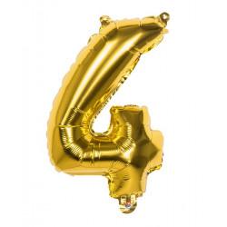 Ballon aluminium Or 36 cm chiffre 4 Déco festive 22004