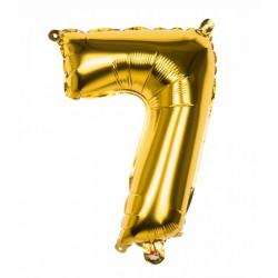 Ballon aluminium Or 36 cm chiffre 7 Déco festive 22007