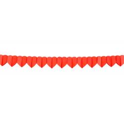 Guirlande papier coeurs rouges 4 m Déco festive 30620