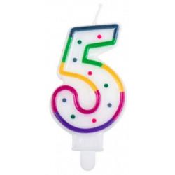 Bougie anniversaire chiffre 5 Déco festive 31065