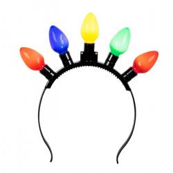 Serre-tête avec ampoules led multicolores Accessoires de fête 31201
