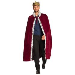 Cape bordeaux roi adulte 140 cm Accessoires de fête 36105