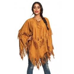 Poncho indienne femme taille unique Déguisements 44095
