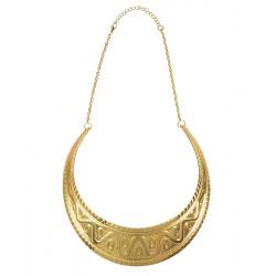 Collier doré déesse égyptienne Accessoires de fête 64423