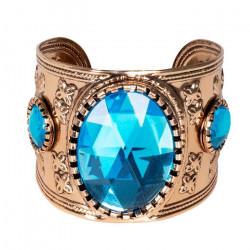 Bracelet égyptien doré et pierre bleue Accessoires de fête 64425