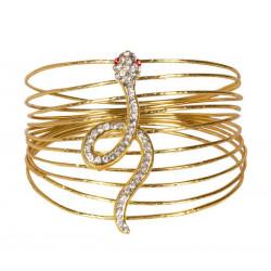 Bracelet doré serpent égyptien Accessoires de fête 64426