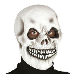 Masque tête de mort latex blanc Accessoires de fête 2391