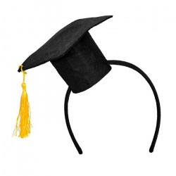 Serre-tête chapeau diplômé américain Accessoires de fête 90610BO