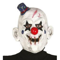 Masque clown latex avec chapeau Accessoires de fête 2398