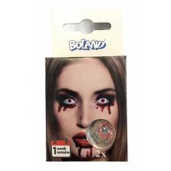 Lentilles fantaisie oeil injecté de sang Halloween Accessoires de fête 40104
