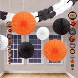 Déco festive, Kit 9 décorations assorties halloween, 240341, 12,90 €