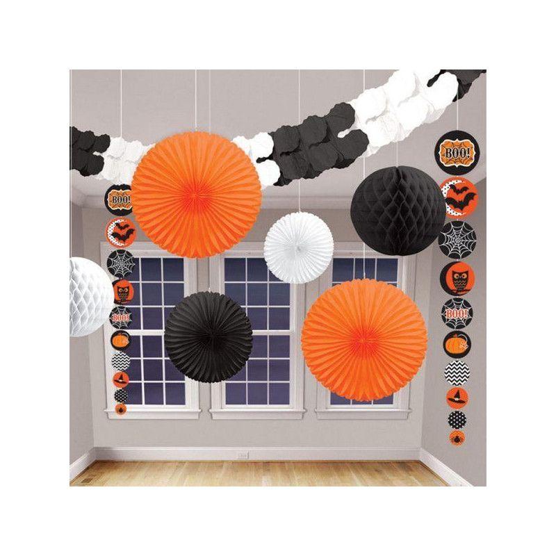 Kit 9 décorations assorties halloween Déco festive 240341