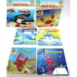 Puzzle 25 pièces thème mer vendu par 48 Jouets et articles kermesse 24195-LOT