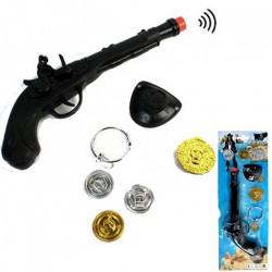 Panoplie pirate avec pistolet bruiteur et accessoires Jouets et articles kermesse 26199