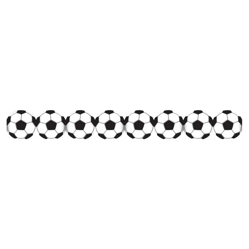 Guirlande papier ballons de football 3 m Déco festive 11339