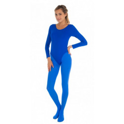 Body manches longues bleu adulte taille S-M Accessoires de fête 842507896