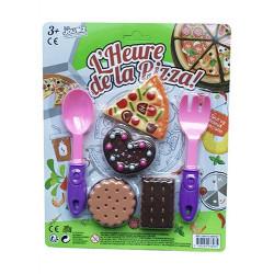Dinette pizza et dessert plastique Jouets et articles kermesse 70109TOYS
