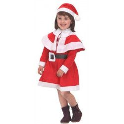 Déguisement mère Noël fille 3 à 4 ans Déguisements 24239