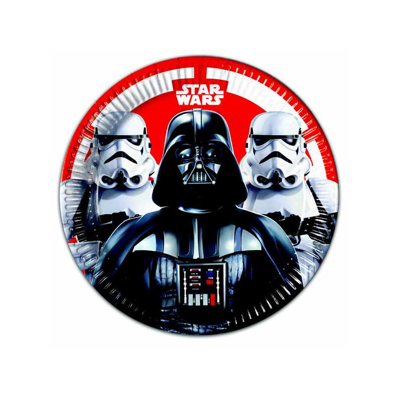 Assiettes jetables x 8 Star Wars Final Battle ™ 23 cm Déco festive LSTA88135