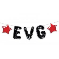 Guirlande ballons alu noir EVG 5 m Déco festive CD4400