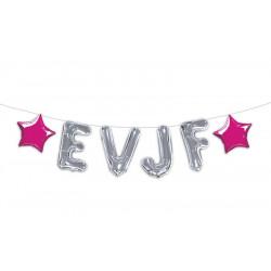 Guirlande ballons alu argent EVJF 5 m Déco festive CD4401