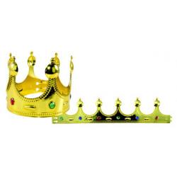 Couronne roi avec boules dorées et pierres Accessoires de fête 10081