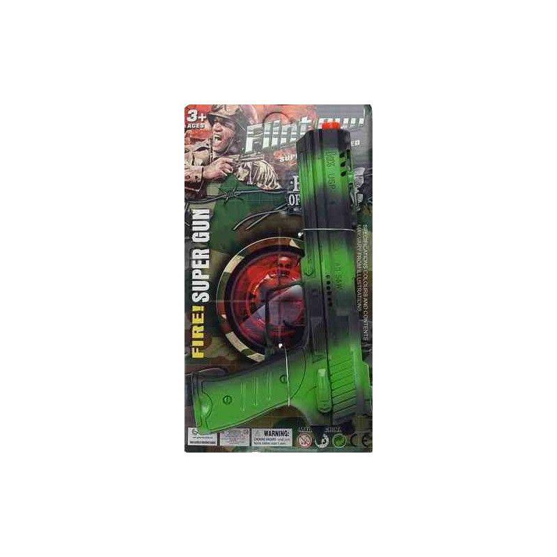 Pistolet bruiteur camouflage 27 cm Jouets et articles kermesse 24274