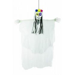 Squelette femme Day of the Dead à suspendre 80 cm Déco festive 16380
