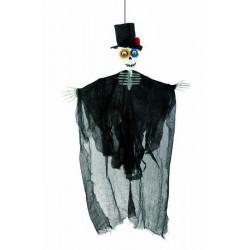 Squelette homme Day of the Dead à suspendre 80 cm Déco festive 16381