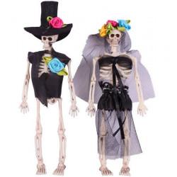 Squelette couple mariés Day of the Dead à suspendre 15 cm Déco festive 17420
