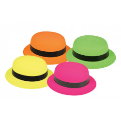 Chapeau melon plastique adulte Accessoires de fête 30085