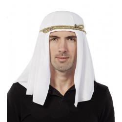 Coiffe blanche cheikh adulte Accessoires de fête 32140CLOWN