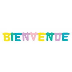 Guirlande carton pastel 88 cm - Bienvenue Déco festive 33336