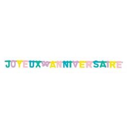 Guirlande carton pastel 4.65 m - Joyeux Anniversaire Déco festive 33338CLOWN