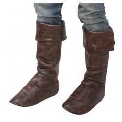 Cache bottes simili cuir marron adulte Accessoires de fête 39096