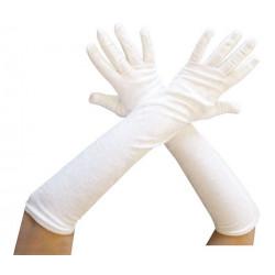 Gants longs blancs 53 cm adulte Accessoires de fête 39200CLOWN
