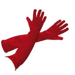 Gants longs rouges 53 cm adulte Accessoires de fête 39210