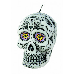 Bougie Day of the Dead 10 cm Déco festive 39700