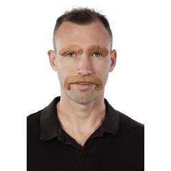 Moustache et sourcils châtain Accessoires de fête 50021CLOWN