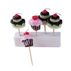 Bougie cupcakes x 5 Cake Design 80066