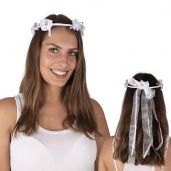 Couronne fleurs blanches de mariée Accessoires de fête 80126