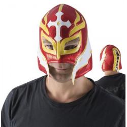 Masque catcheur rouge taille unique Accessoires de fête 84260